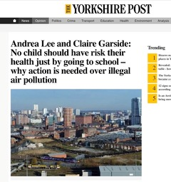 headline about air pollution from the yorkshire post