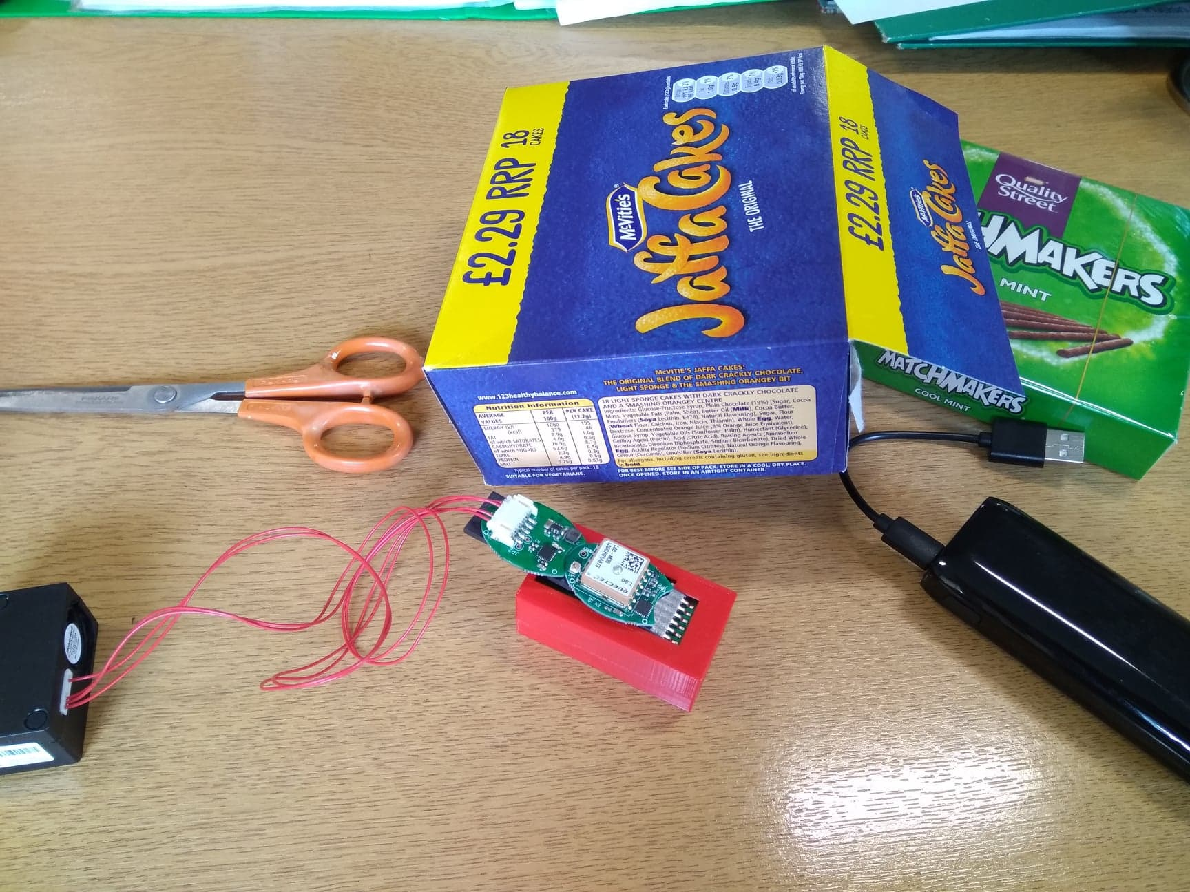 jaffa cake box casing for digital project